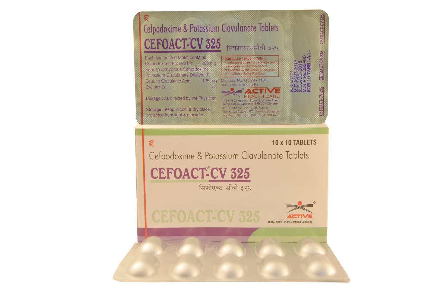 cefoact cv 325  tab
